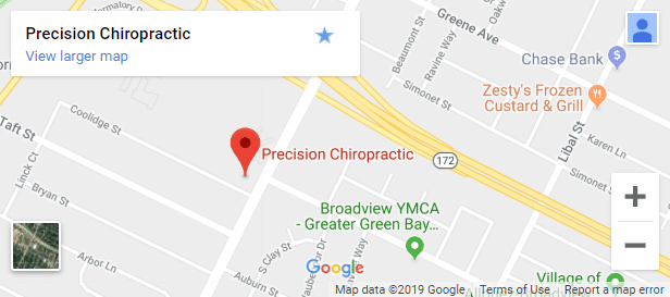 Map of Green Bay Chiropractors